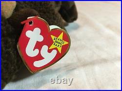 RARE Vintage with ERRORS 1998 TY Beanie Babies Roam Stuffed Toy Plush Buffalo