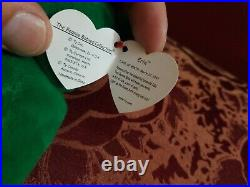 RARE ty Beanie Baby ERIN-MINT with 2 MAJOR ERRORS Erin the Bear Encased MINT