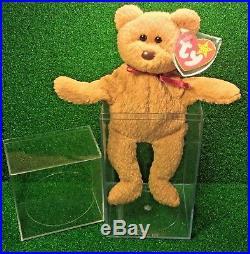 Rare 1993 Curly BEAR Ty Beanie Baby PVC Canadian Customs TT GENUINE Errors MWMT