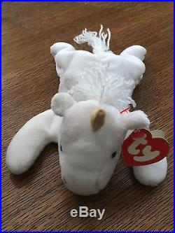 Rare 1993 TY Beanie Baby mint Mystic the Unicorn with PVC pellets