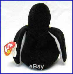 Rare 1995 TY Beanie Babies Waddle the penguin with ERRORS