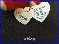 Rare 1995 Ty Snort Beanie Babies P. V. C Pellets No Star