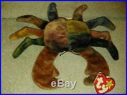 d97330495e7 Rare 1996 Claude the crab TY beanie Original baby RARE free shipping ...