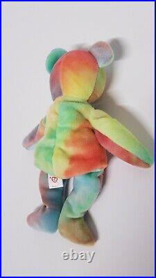 Rare 1996 Vintage Peace Beanie Baby With PE Pellets & Errors FREE SHIPPING