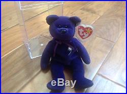 Rare 1997 1st edition Ty Beanie Baby Princess Diana, China, P. E, No Space, Star