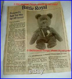 Rare 1997 Princess Diana Beanie Baby 2 1 Space Tag Original