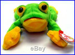 Rare 1997 TY Beanie Babies Smoochy the frog with ERRORS