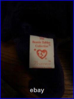 Rare 1997 Ty Beanie Babies Princess The Bear (diana) Excellent Condition Nr