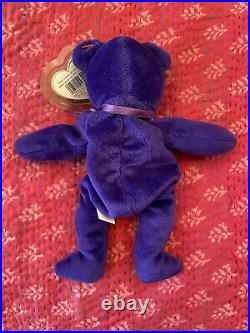 Rare 1997 Ty Princess Diana Beanie Baby Bear PE Pellets Indonesia 1997