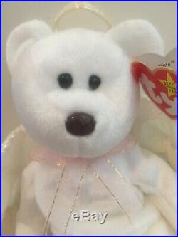 Rare 1998 Retired Ty Halo Beanie Baby in Mint condition with errors