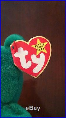 Rare 1st Edition 1997 Erin Ty Beanie Baby Mint Condition Errors No Tushtag Stamp