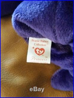 Rare 1st Edition 1997 Princess Diana TY Beanie Baby NO SPACE