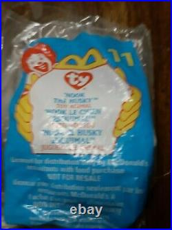 Rare 7 Mcdonalds Ty Beanie Babies Sealed/Unopened 1999 Retired Happy Meal Toys