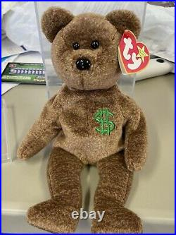 Rare BILLIONAIRE #1 BEAR Beanie Baby Teddy Signed By Ty MWMT-MQ