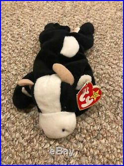Rare Daisy the Cow Beanie Baby with Tag Errors and Special Markings