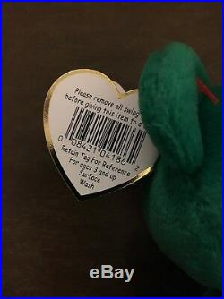Rare Erin Beanie Baby-Errors and Rarities, Excellent Condition