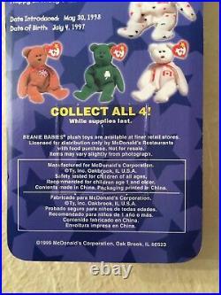 Rare Errors Nib Glory The Bear Ronald Mcdonald Charities Ty Beanie Babies