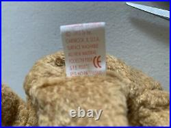 Rare Errors Retired Ty Beanie Baby'curly' The Bear Many Errors Mint Condition
