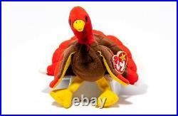 Rare Gobbles Ty Errors Extra Tag Elite Beanie Baby 1996 Pvc Turkey Retired