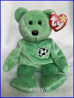 Rare Kicks Bear Ty Original Beanie Baby Retired With Errors