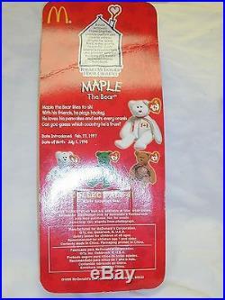 Rare Maple The Bear Ty- Still In Original Box Date Of Birth 1996