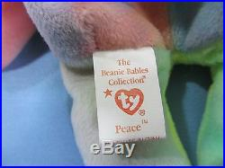 Rare Peace Bear TY Beanie Baby Many Mistakes and Rarities 8 Total! Make Offer
