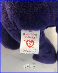 Rare Princess Diana Beanie Baby 1st Edition 1997. No Space PVC Pellet Mint
