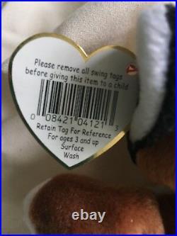Rare Retired Errors 1996 TY Chip Beanie Baby PVC Pellets, Circle inside tush tag