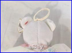 Rare Retired Halo The Bear Beanie Baby Ty Tag Tush Tag Color Errors