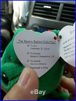 Rare Retired MINT Erin Ty Beanie Baby Bear