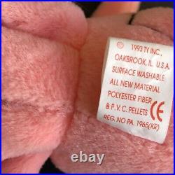 Rare Retired Original Ty Beanie Baby Inky 1993 1994 Pvc Pellets Tag Errors Mint