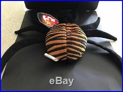 Rare Retired SPINNER EAR TAG CREEPY TUSH TAG Beanie Baby Handmade In Indonesia