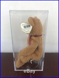 Rare Retired Ty Beanie Baby'curly' The Bear With Many Errors Mint