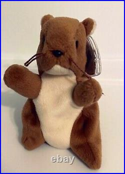 Rare Retired Ty Original Beanie Baby Nut 1996 Style # 4114, Errors, Extra Whisker