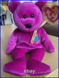 Rare TY Beanie Babies Millenium The Bear 1999