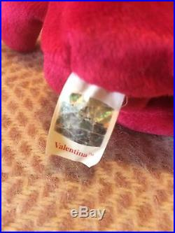 Rare TY Beanie Babies Valentina With Tag 1998/1999 Date Error