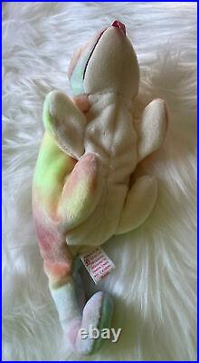 Rare TY Beanie Baby Iggy Chameleon Retired with multiple Errors (1997)