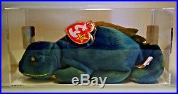 Rare TY Beanie Baby Iggy Iguana Spikes 1997 Tag Error True BB COA MUSEUM QUALITY