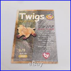 Rare TY Beanie babies Trading card Canadian Gold Twigs 9/9 Series 2