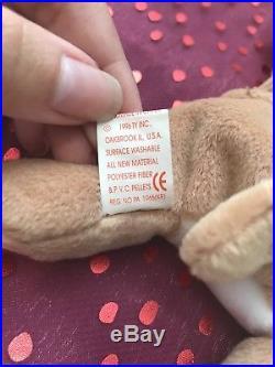 Rare TY Wrinkles Beanie Baby 1996 - Retired, MWMT Errors