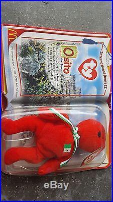 Rare Ty Beanie Babies McDonalds Osito Mexico 1999/2000 Teenie Baby Boxed New