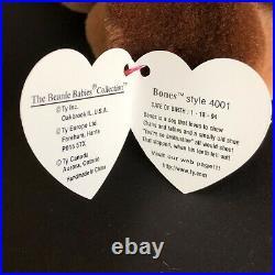 Rare Ty Beanie Baby Bones Style 4001 Tag Errors 1993/1994 PVC Pellets