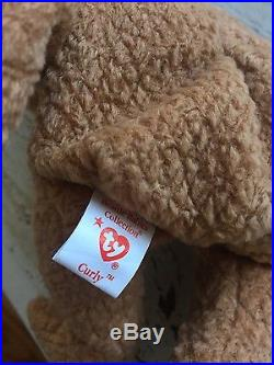 Rare Ty Beanie Baby Curly Errors Double Tag Holder