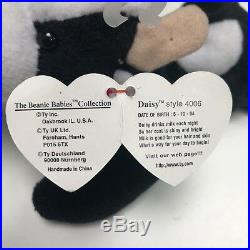 Rare Ty Beanie Baby Daisy The Cow With Errors