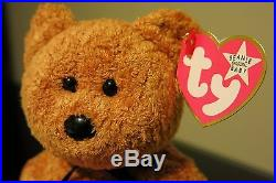 ff48687eeb9 Rare Ty Beanie Baby Fuzz Pink Tag White Star Error Other Typos Babies Pe
