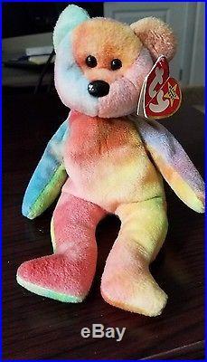 27565bd25e3 Rare Ty Beanie Baby Garcia The Bear 1993 1995 PVC 4051 Tag   Tush Error