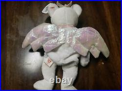 Rare Ty Beanie Baby Original Halo Brown Nose 1998 Retired Cool Iridescent Wings