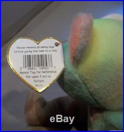 Rare Ty Beanie Baby-PEACE BEAR- Original Collectible with Tag ERRORS
