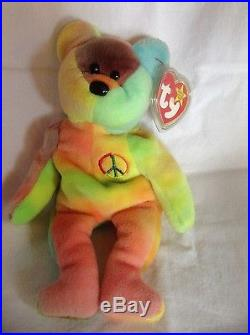 9331639e47d Rare Ty Beanie Baby Peace Bear 1996 Original Collectible with Tag Errors