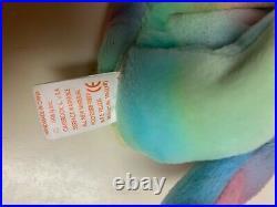 Rare Ty Beanie Baby Peace Bear Good condition, Unique Color Scheme & Errors